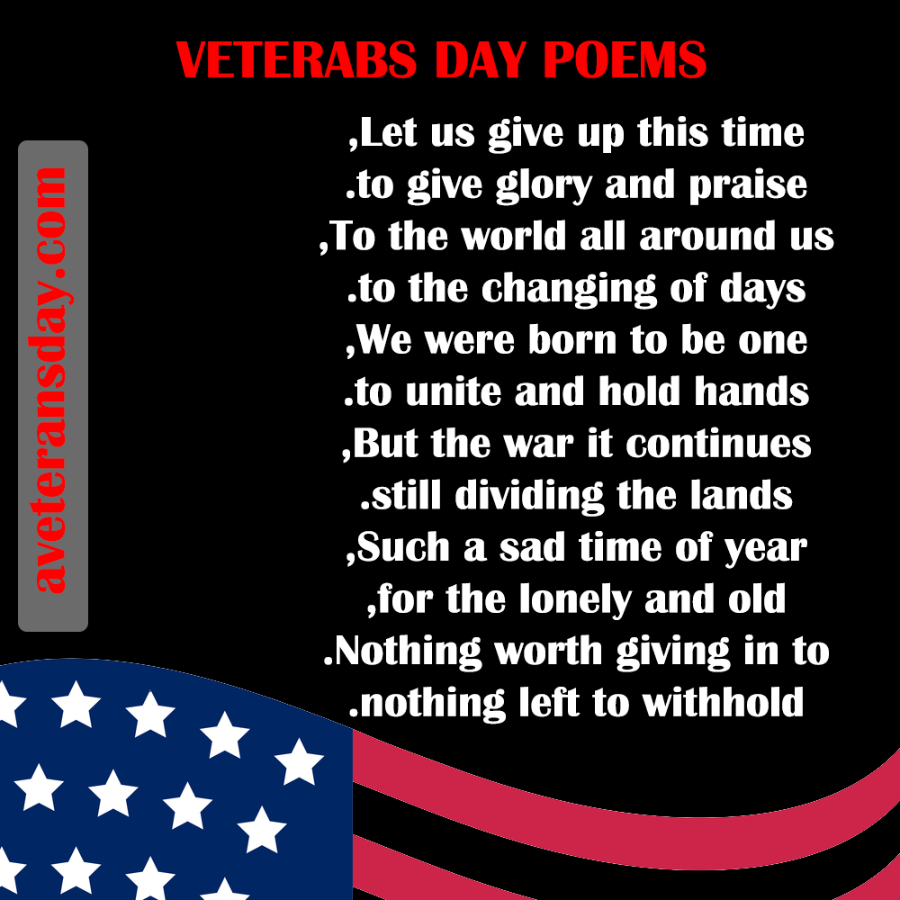 veterans day poems for church