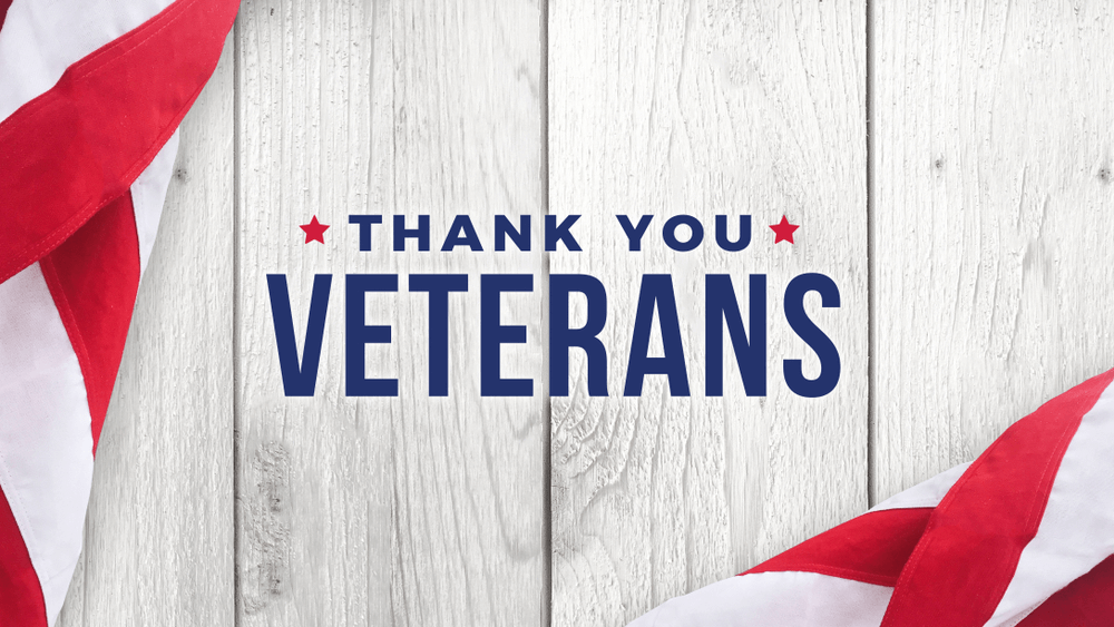 Happy Veterans day banner