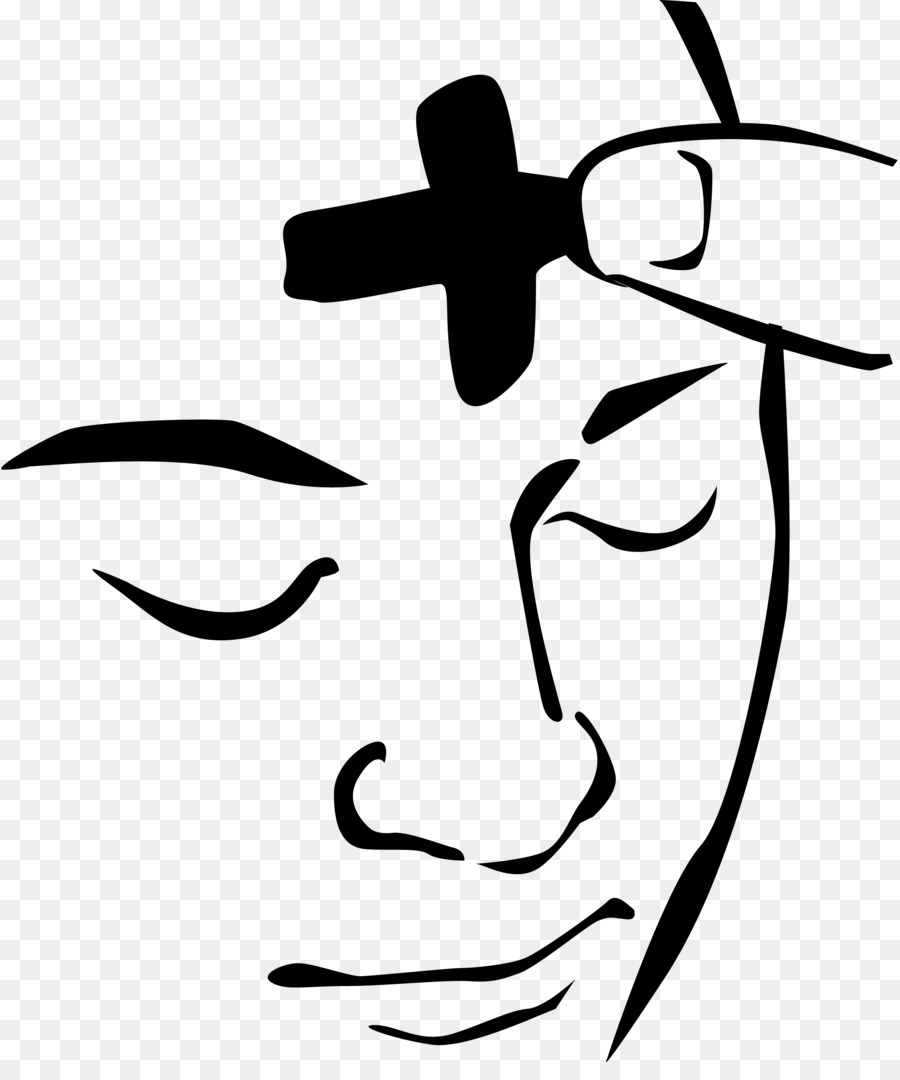 Ash Wednesday Clipart Black and White