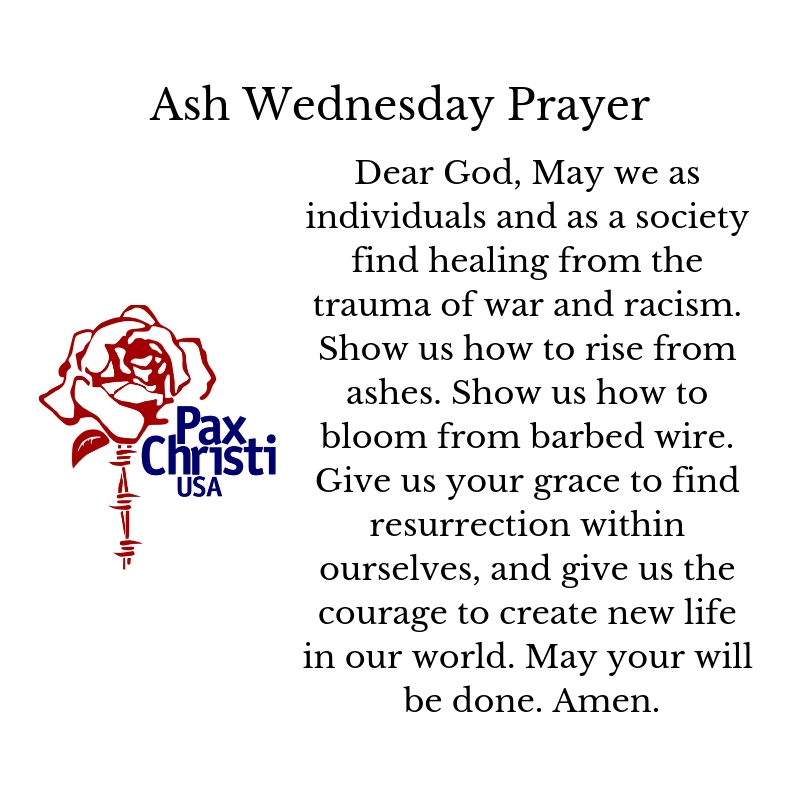 Ash Wednesday Prayers for Ashes