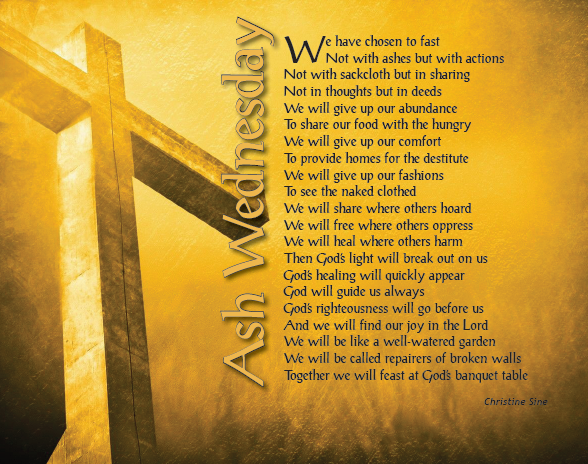 Ash Wednesday Prayers for Students