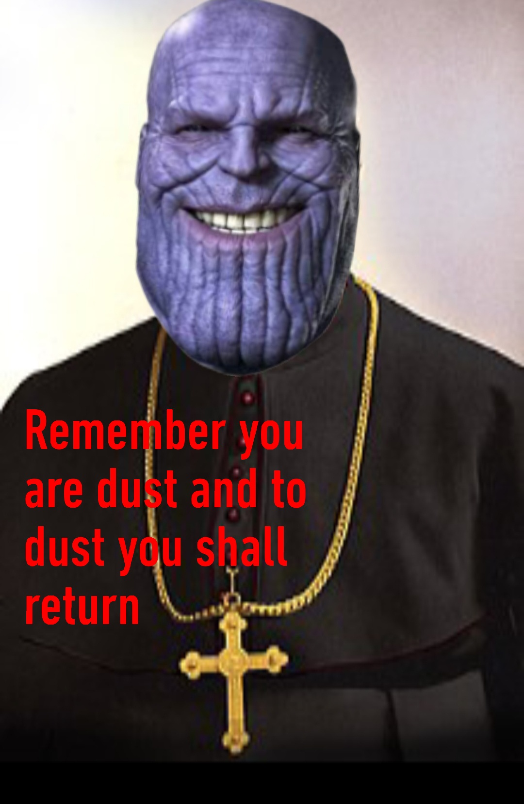 Thanos Ash Wednesday Meme 2020