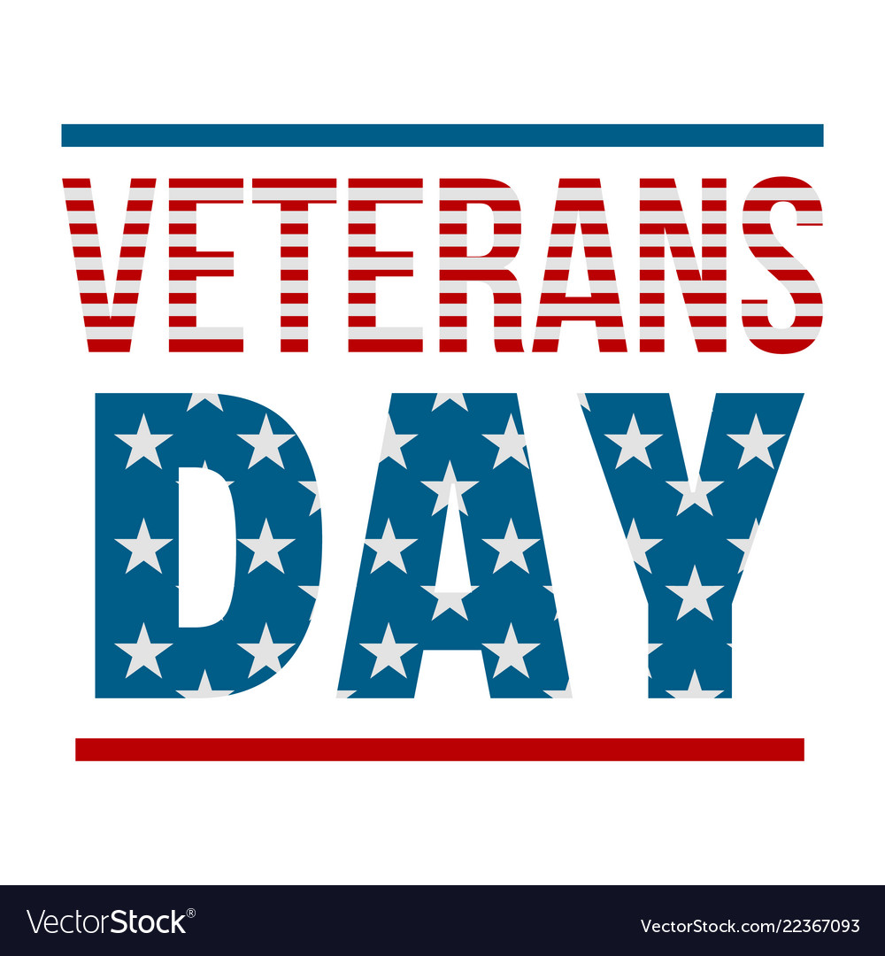 Text veterans day logo